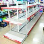 kệ siêu thị đôi lưới 3 tầng