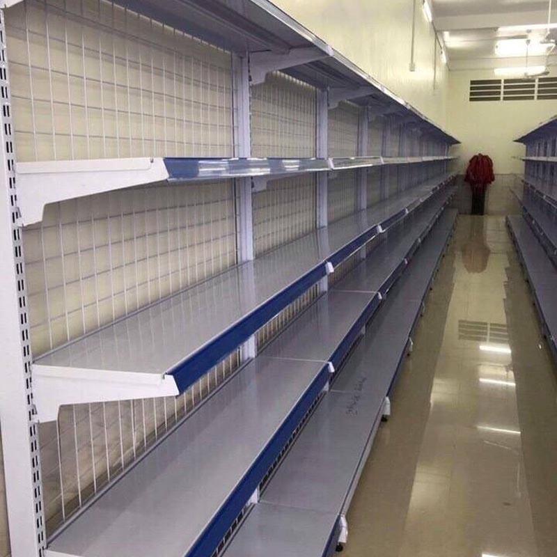 Kệ siêu thị đơn lưới 180cmx120cm 5 tầng