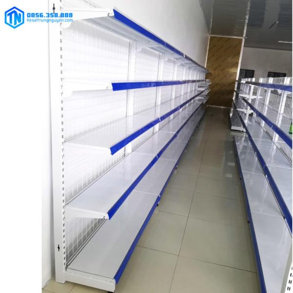 mẫu kệ siêu thị đơn lưới 5 tầng 180x90